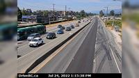 Pitt Meadows > West: , Hwy  (Lougheed Hwy) at Harris Road, looking west - El día