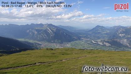 Pfäfers: Pizol - Bad Ragaz - Wangs - Blick nach Norden