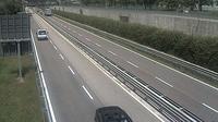 Trento: SS_km , Comune di - vista del tratto U-U in direzione NORD - Dagtid