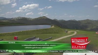 Tageslicht webcam ansicht von Ascham: Wildkogel Arena