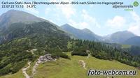 Konigssee: Carl-von-Stahl-Haus - Berchtesgadener Alpen - Blick nach Süden ins Hagengebirge - Day time