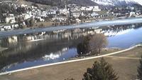 Saint Moritz: St. Moritzer - See mit - Dorf