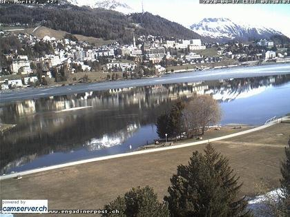Sankt Moritz: St. Moritzer - See mit St. Moritz-Dorf