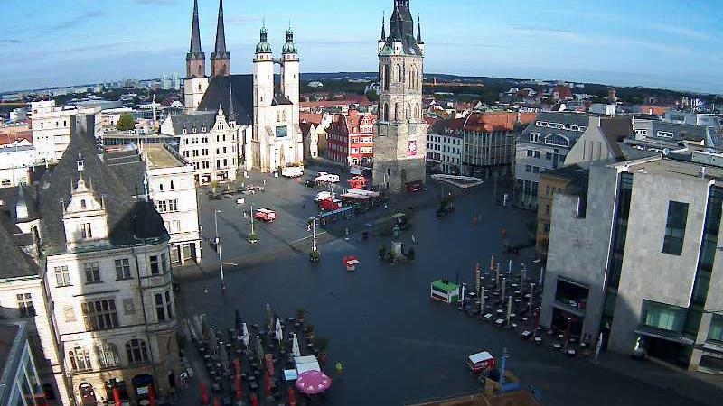 Webcam Halle: Marktplatz Halle