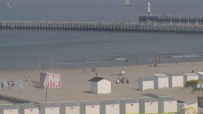Current or last view from Nieuwpoort Bad: Nieuwpoort − Pier
