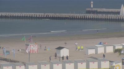 Tageslicht webcam ansicht von Nieuwpoort Bad: Nieuwpoort − Pier