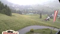 Dernière vue de jour à partir de Hirschegg: Kleinwalsertal Mittelberg Wildentalhütte