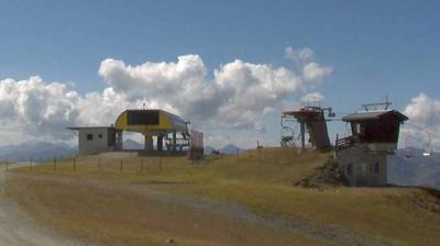 Tageslicht webcam ansicht von Stock: Bergstation Kreuzjoch Express