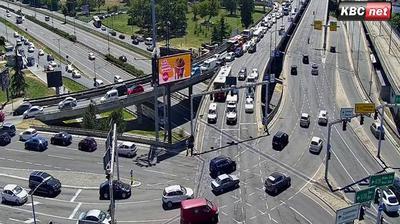 Vue webcam de jour à partir de Vračar: Belgrade Live − Autokomanda