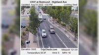 Redmond: US at - Highland Ave - Dagtid