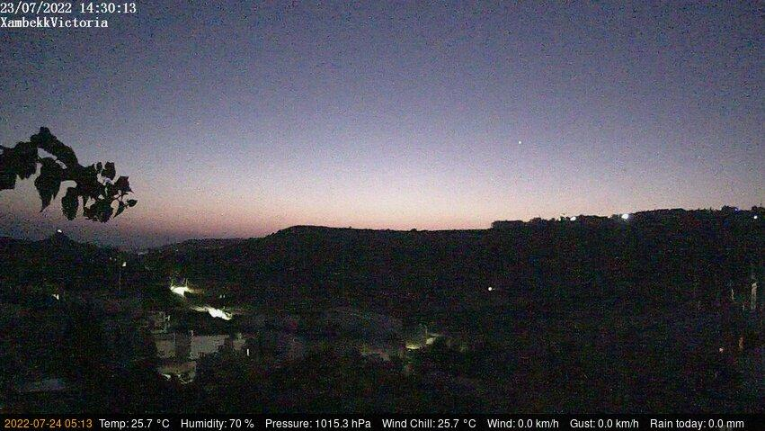 Webcam Victoria › North-West: Gozo − case, strade, collin