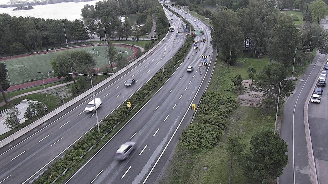 Webkamera Teekkarikylä: Tie 51 Helsinki, Lauttasaari − Tie 5