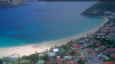 Vista de cámara web de luz diurna desde Saint Jean: Plage de Flamand Beach, Saint Barth