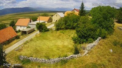 Vue webcam de jour à partir de Zirovic: Žirović Federation of B&H