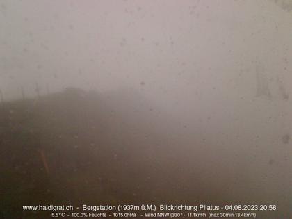 Wolfenschiessen: Bergstation Haldigrat (m) Blickrichtung West - Pilatus