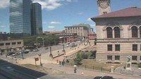 Ultima vista de la luz del día desde Worcester: Downtown