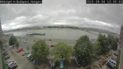 Vista de cámara web de luz diurna desde Budapest IX. kerület: Duna utca