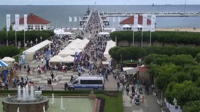 Daylight webcam view from Sopot: Molo