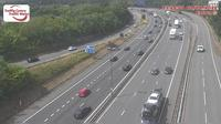 Caerleon: Newport - M eastbound between junctions A and  (Usk Bridge and) - Dia