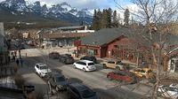Canmore: Downtown - Mount Rundle from Main Street - Dia