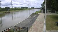 Hengelo > South-West: View on the Twente canal fromout Rowing club Tubantia - Dia