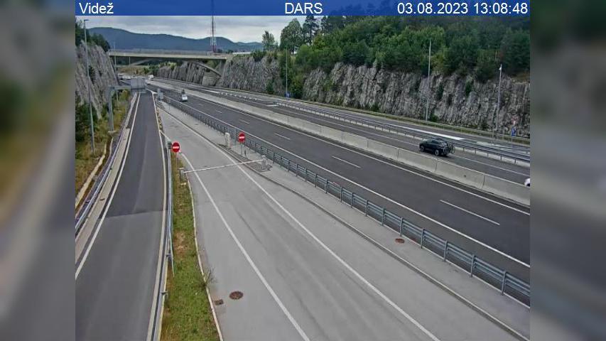 Webcam Kozina: A1/E61, Ljubljana − Koper, cestninska post