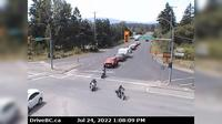 North Cowichan > West: , Hwy , at Herd Rd/Cowichan Valley Hwy, about  km north of Duncan, looking west - Overdag