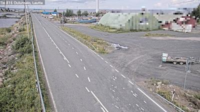 Vue webcam de jour à partir de Oulu: Tie 816 Oulunsalo, lauttaranta − Oulunsalon Lautalle