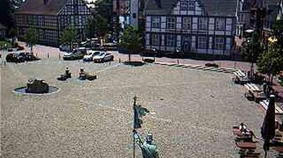 Daylight webcam view from Quakenbrück › South West: Marktplatz