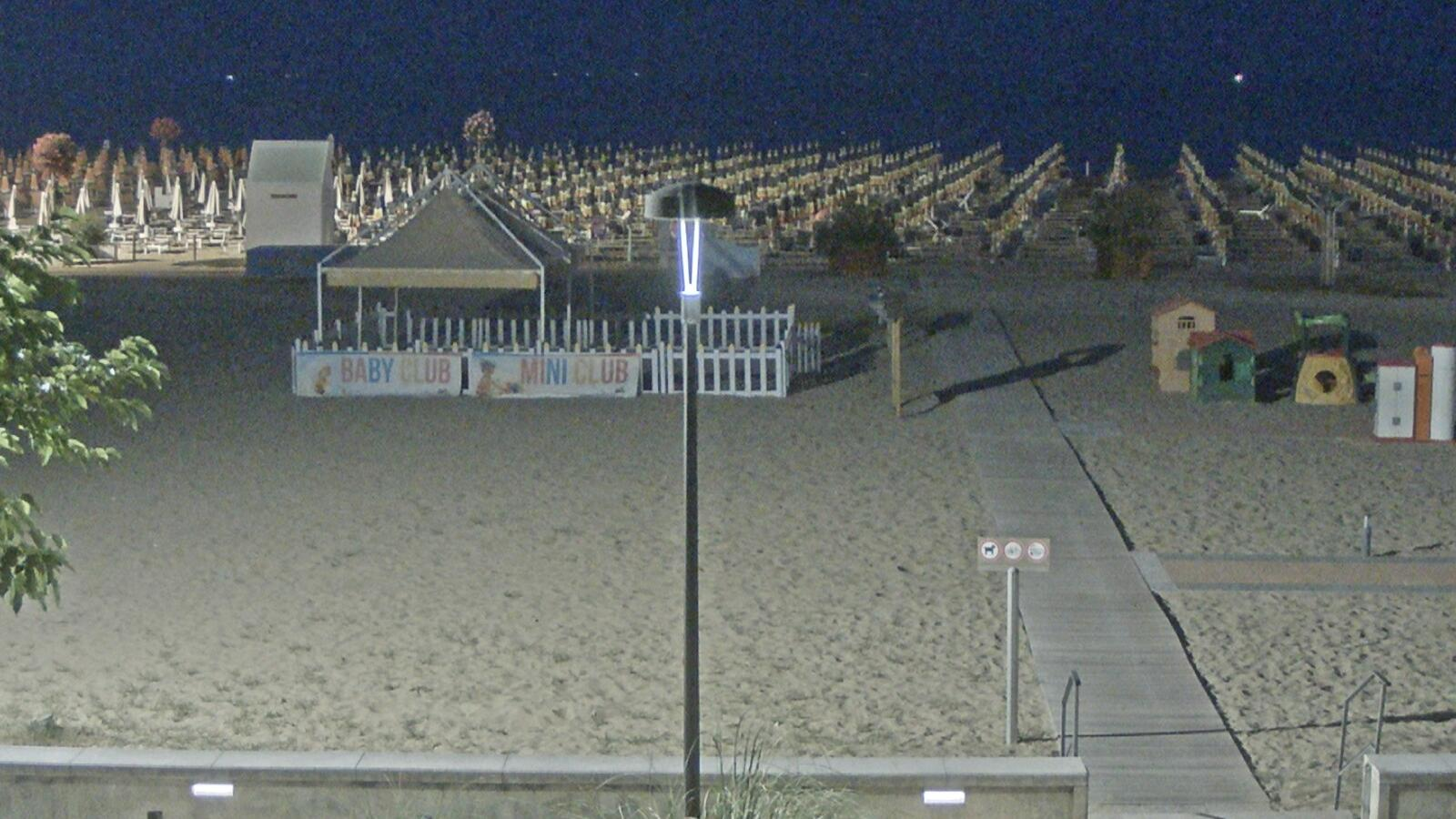 Webcam Bibione › South: Vista della spiaggia di