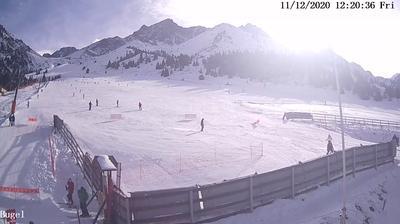 Daylight webcam view from Almaty: Shymbulak Ski Resort