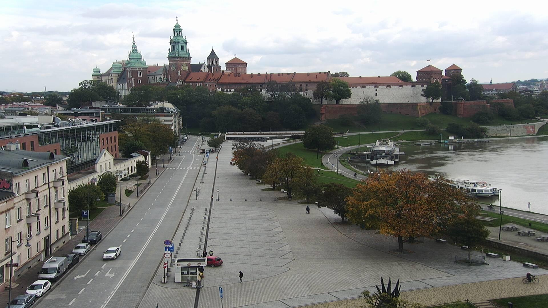Webcam Krakow: Vistulan Boulevards, Wawel