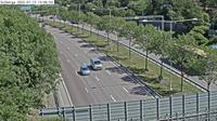 Solberga: Kameran är placerad på E/E Södertäljevägen i höjd med - och är riktad mot Stockholm - Dagtid
