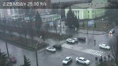 Webkamera Poltava: view to Zhovtneva street − вид на вулицю