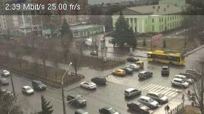 Tageslicht webcam ansicht von Poltava: view to Zhovtneva street − вид на вулицю Жовтневу