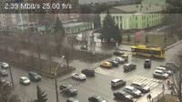 Poltava: view to Zhovtneva street (Полтава, вид на вулицю Жовтневу) - Day time