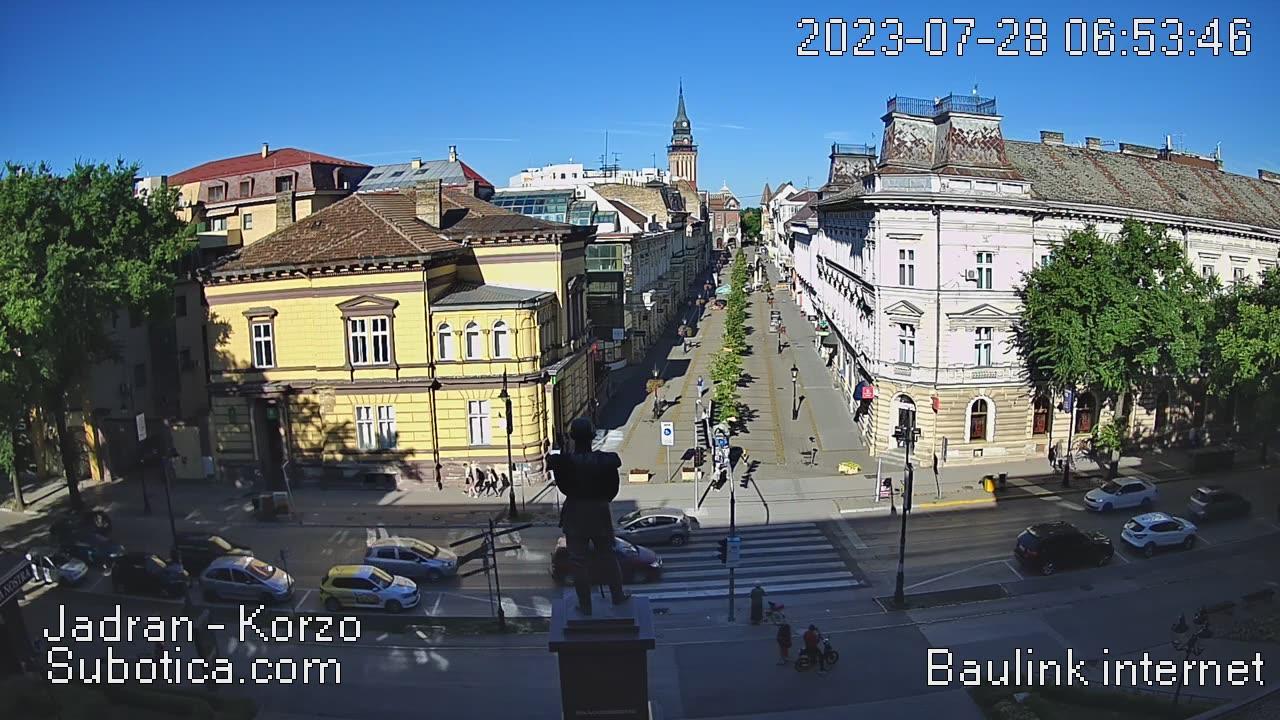 Webcam Subotica: center of town