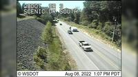 Poulsbo > South: SR  at MP .: Scenic Dr Looking South - Day time