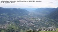 Tirol - Tirolo: Berggasthaus Hochmuth - Dorf - Meran - Blick nach S�dosten - Recent