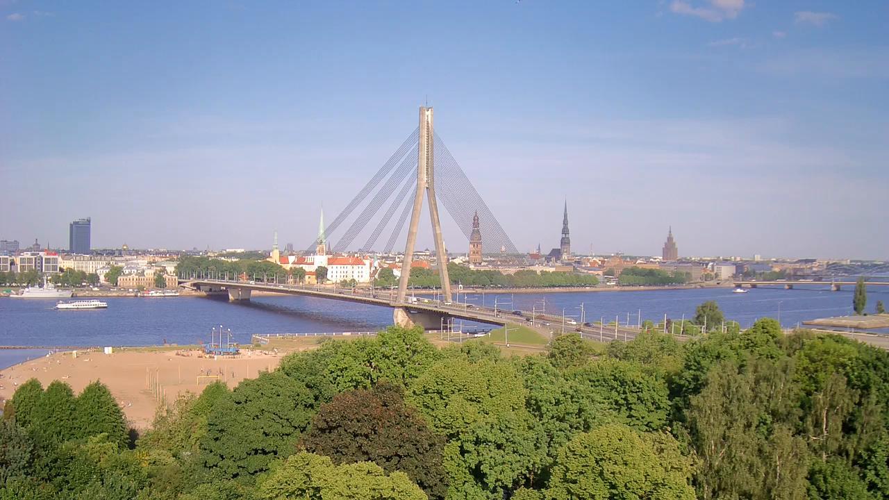 Webkamera Vecrīga: Riga − Vanšu Bridge