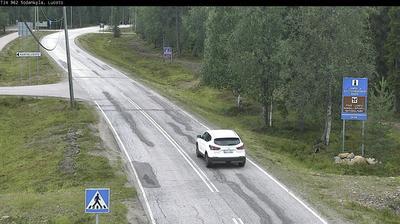 Daylight webcam view from Sodankylä: Tie 962 − Luosto − Kemijärvelle