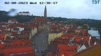 Landshut: Heiliggeistkirche Blickrichtung BurgTrausnitz - El día