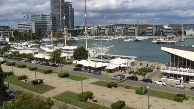 Vue webcam de jour à partir de Gdynia: Skwer Kościuszki i al. Jana Pawła II