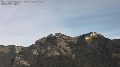 Rüte: Hoher Kasten - Sankt Gallen: Hoher Kasten aus einer Distanz von . Metern sehr stark gezoomt