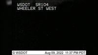 Port Gamble > West: SR  at MP .: Wheeler St Looking West - Current