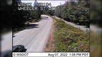Port Gamble > West: SR  at MP .: Wheeler St Looking West - Day time