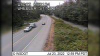 Port Gamble > West: SR  at MP .: Wheeler St Looking West - Dagtid