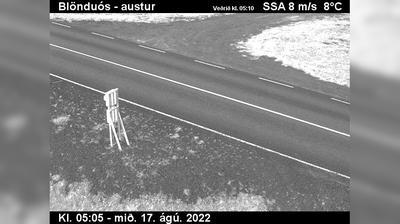 Current or last view from Kópasker: Skinnastaður, Öxarfirði
