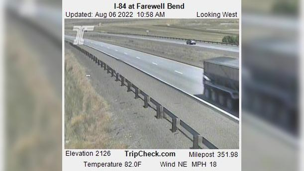 Webcam Huntington: I-84 at Farewell Bend