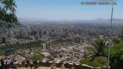 Daylight webcam view from Cerro San Cristóbal › South West: Santiago De Chile